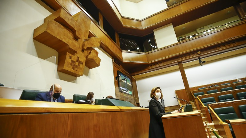 Pleno Ordinario en el Parlamento Vasco (10-12-2020)